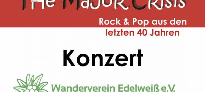 The Major Crisis live im Wanderheim am 9.2.19